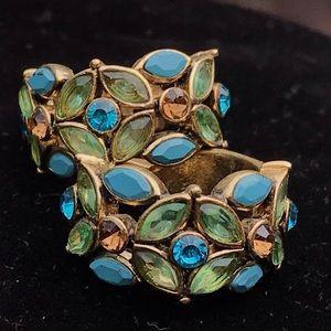 Vintage Monet flower earrings